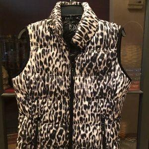 Snow Leopard Puffer Vest